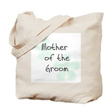 Pastel Flowers Green Mother of Groom Tote Bag