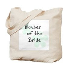 Pastel Flowers Green Mother of Bride Tote Bag