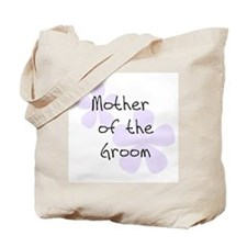 Pastel Flowers Lilac Mother of Groom Tote Bag