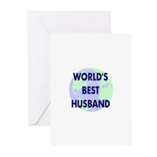 World's Best Husband Greeting Cards (Pk of 10)