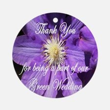 Thank You for being a part of our Green Wedding Or