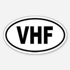 VHF Oval Decal