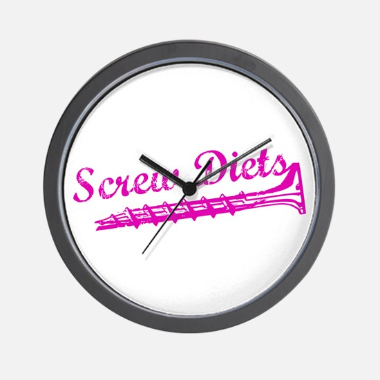 Screw Diets Wall Clock