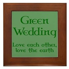 Green Wedding Framed Tile