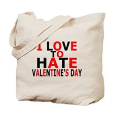Love To Hate V-Day Tote Bag