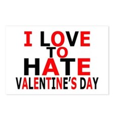 Love To Hate V-Day Postcards (Package of 8)