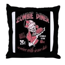 zombie diner Throw Pillow