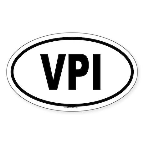 VPI Oval Sticker