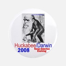 "Huckabee/Darwin 3.5"" Button"