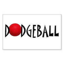 Dodgeball single Rectangle Decal