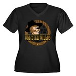One-Eyed Willy's Women's Plus Size V-Neck Dark T-S