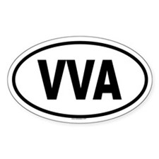 VVA Oval Decal