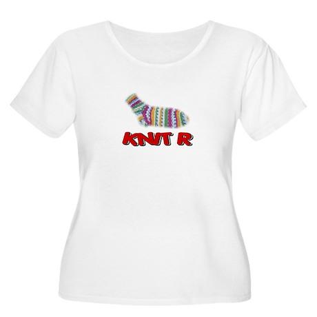 Socik Knit R png Plus Size T-Shirt