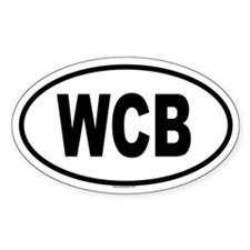 WCB Oval Decal