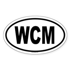 WCM Oval Decal