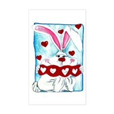 Honey Bunny Love Rectangle Decal