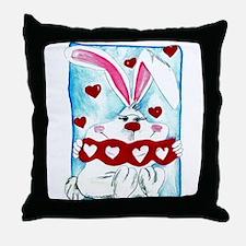 Honey Bunny Love Throw Pillow