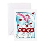 Honey Bunny Love Greeting Cards (Pk of 20)