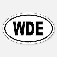WDE Oval Bumper Stickers