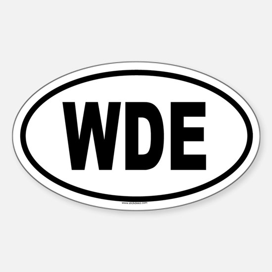 WDE Oval Bumper Stickers