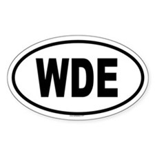 WDE Oval Decal