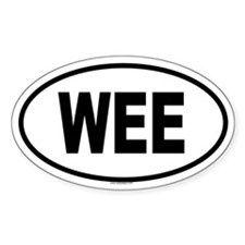 WEE Oval Decal