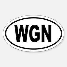 WGN Oval Decal