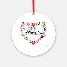 Recovery Valentine Ornament (Round)