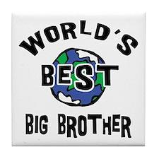 World's Best Big Brother Tile Coaster