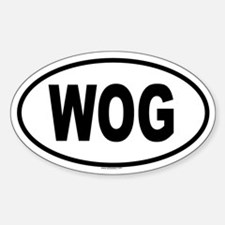 WOG Oval Decal