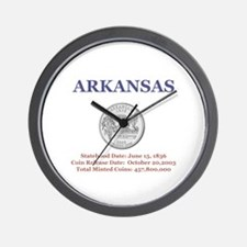 Arkansas with facts State Qua Wall Clock