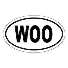 WOO Oval Decal