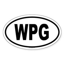 WPG Oval Decal