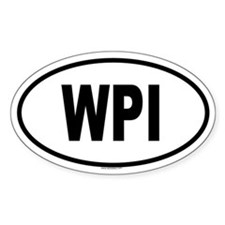 WPI Oval Decal