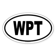 WPT Oval Decal