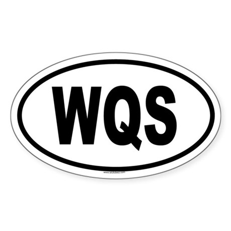 WQS Oval Sticker