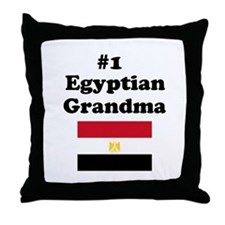 #1 Egyptian Grandma Throw Pillow