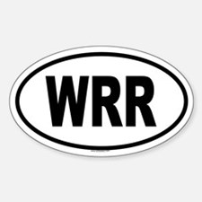 WRR Oval Decal