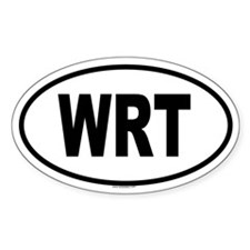 WRT Oval Decal