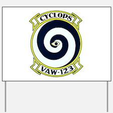 VAW 123 Cyclops Yard Sign