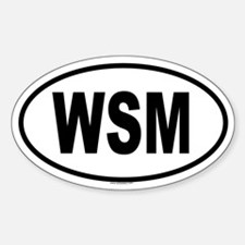 WSM Oval Decal