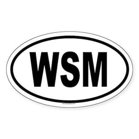 WSM Oval Sticker