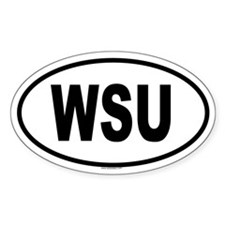 WSU Oval Decal