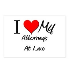 I Heart My Attorneys At Law Postcards (Package of