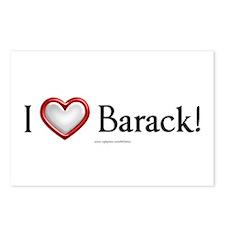 """""""I Heart Barack"""" Postcards (Package of 8)"""