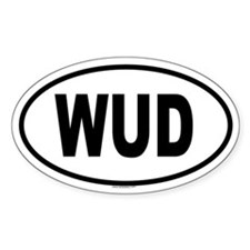 WUD Oval Decal