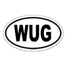 WUG Oval Decal