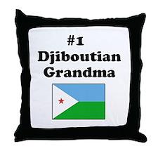 #1 Djiboutian Grandma  Throw Pillow