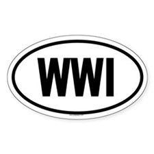 WWI Oval Decal