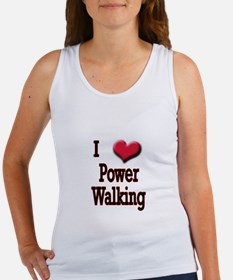 I Love (Heart) Power Walking Women's Tank Top